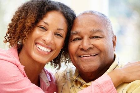 42109408 - senior african american man and granddaughter